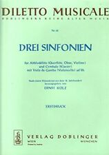 Drei Sinfonien für Altblockflöte (Querflöte, Oboe, Violine) und Cembalo (Klavier