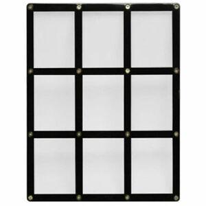 Ultra PRO 9 Card Black Screw Screwdown Border Holder Display Frame Standard