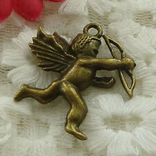free ship  32 pieces bronze plated Cupid charms 29x26mm #3183