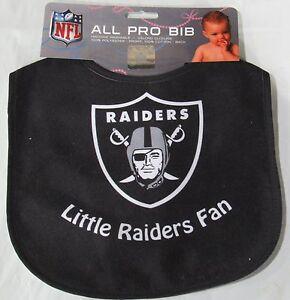 NFL Las Vegas Raiders Infant Baby ALL PRO BIB All Black