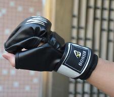 Mma Half Mitt Boxing Glove Training Sparring Kick Thai Muay Punching Gloves New