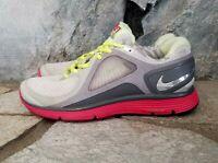 Nike Lunar Eclipse Flywire Womens Sz 10 Running Gym Shoes Grey/Pink 408580-100