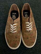 Vans Authentic California Mens Size 8 Floral Suede Leather Decon CA Skate Shoes