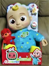 "Cocomelon JJ Doll Plush Musical Bedtime 10"" Soft Toy & Bear Netflix"