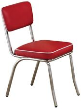 Coaster Dinning Chair 2450r Red Retro 50's Diner Style Chair Set of 2