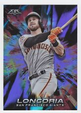 2018 Topps Fire Evan Longoria Purple Foil Card #25/99
