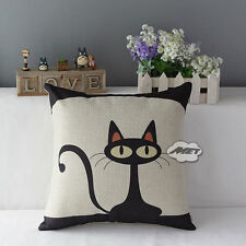 Lovely Cat Pillow Case Sofa Waist Throw Cushion Cover Home Office Decor UK