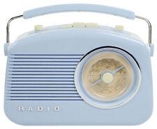 Vintage Retro FM AM Portable Radio 1950's Design In Baby Blue High Quality Sound