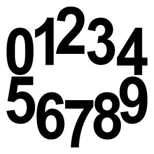 10 Sticker Tattoo 18cm Black Number Room House Door Locker Start Number Digit