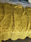 Vintage+lined++Green+Gold++Curtains+Drapes+Pinch+Pleat+4+Panels+Each+24%22+x+68
