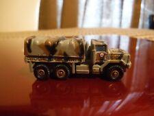 "1995 Micro Machines Mini Military Camo Truck toy vehicle Army 2"" long, skull"