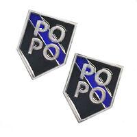 Thin Blue Line Police Sheriff Law Enforcement PO PO Target Lapel Pin