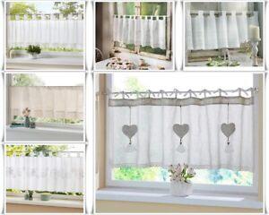 Landhausstil  Fenstervorhang  Scheibengardine  Schmetterling Herz Spitze