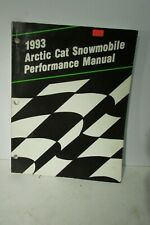 1993 Arctic Cat Snowmobile Performance Manual 2254-878 Very Nice Great Info