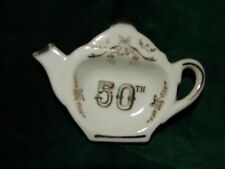 Vintage Japan 50 th Anniversary Spoon Rest - Fifty Golden Anniversary