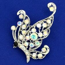 Crystal Ab New Pin Jewelry Butterfly Brooch Made With Swarovski