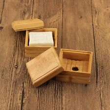Wood Bamboo Soap Dish Wood Handmade Tray Case Shower Holder Keep Bottom Hole kee
