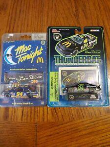 Vintage Bill Elliott 1:64 Scale Mac Tonight And Thunderbat Nascar Models