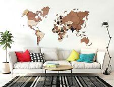 Wood Map World Map Wall Map 3D World Map Wood World Map Wood Wall Art Home Decor