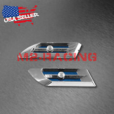 Universal ABS Blue Crystal Air Fender Grill Body Side Vents Car SUV Decoration