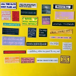 Lil Peep Quotes, Lyrics, Singles Sticker Pack 27 Vinyl Stickers