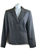 Vtg Pendleton Blazer 12 Virgin Wool Gray Long Sleeve Career Work Business Attire