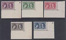 Luxembourg Sc B20-B24 MNH. 1927 Grand Duchess & Prince, choice complete set
