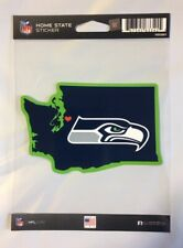 Seattle Seahawks Home State Sticker Washington WA Die Cut Decal Color Logo New