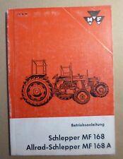 Massey Ferguson Schlepper MF168 Betriebsanleitung