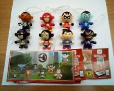 Kinder- Serie completa 2017 Justice League ( SD 310 - SD 317 ) + 8  cartine