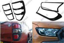 Ford Ranger T6 2016 On Styling Accessories Front n Rear Light Surrounds BLACK