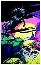Auth~70s BLACKLIGHT STALLION~Wild Horse s Poster~FreeSh
