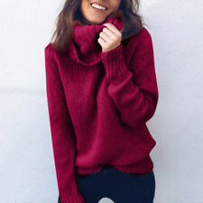 Women Winter Turtleneck Baggy Tops Chunky Knitted Baggy Sweater Jumper Shirt Hot