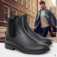 womens high top antiskid Chelsea boots ankle rain boots waterproof Slip on Shoes