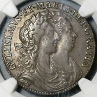 1689 NGC VF 30 William Mary 1/2 Crown Great Britain Silver Coin (20091603D)