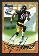 1999 BOWMAN PITTSBURGH STEELER ROOKIE WR TROY EDWARDS AUTOGRAPHED FOOTBALL CARD