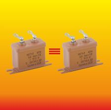 0.5 uF 400 V Matched Russian Paper In Oil Pio Audio Capacitors Mbgp-2