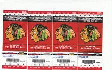 CHICAGO BLACKHAWKS VS CANUCKS FULL TICKET STUB 11/6/11 HENRIK DANIEL SEDIN GOALS