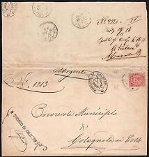 STORIA POSTALE Regno 1886 Piego da Caldiero per Colognola ai Colli (FB9)