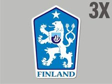 3 Finland shaped sticker flag crest decal bumper car bike Stickers vinyl CN012