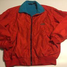 Vintage Patagonia RED Shelled Aqua Fleece Jacket Style 42111 USA Men's XL flaw
