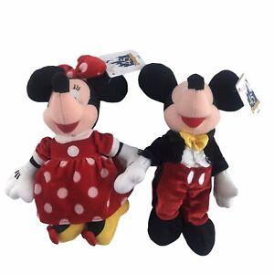 2000 Disneyland 45th Anniversary Mickey And Minnie Bean Bag Plush Disney New