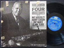 BUDD JOHNSON The Four Brass Giants LP RIVERSIDE RLP 343 DG MONO Tommy Flanagan