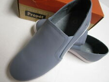 Propet Sz 11 Wide  Leather Slip On Shoes Blue Loafers Sneakers Nyla