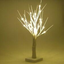 Weihnachtsbaum weiß glitzer LED 45cm Weihnachtsdeko Kunsttanne Christbaum
