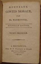 MARMONTEL - NOUVEAUX CONTES MORAUX - 2 TOMES EN 1 VOLUME - BRUNSWICK 1800