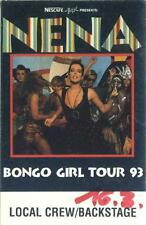 Nena-Bongo GIRL TOUR 93-Concert-Pass local CREW/Backstage-Pièce de collection