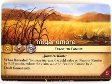 A Game of Thrones 2.0 LCG - 1x #S006 Feast or Famine - Valyrian Draft Starter