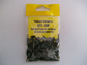 PIKE / SEA FISHING: 500 x  TRACE CRIMPS 8mm LONG x O.80mm BORE