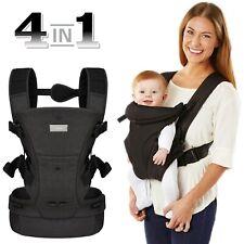Bauchtrage Babytrage Rückentrage Kindertrage 4in1 Ergonomisch Schwarz 3,6-15 kg